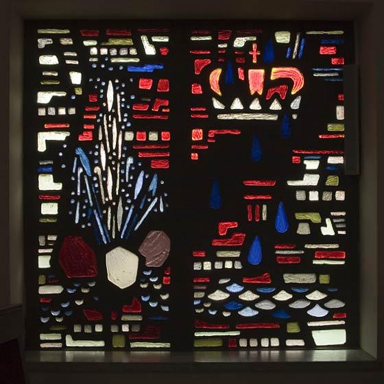 Betonglasfenster, Aus dem Leben des Hl. Ansgar,Theo M. Landmann